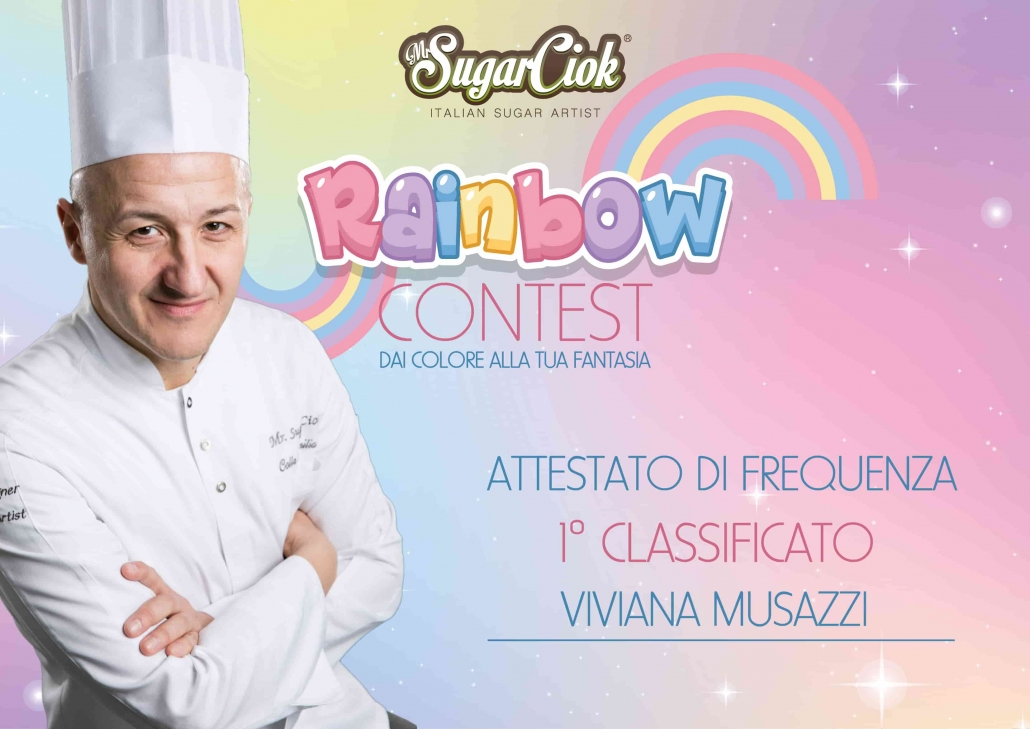 Attestato contest Rainbow