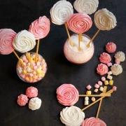 lollipop di meringhe e meringhe