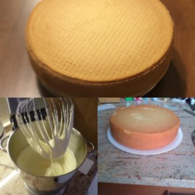 fasi per la preparazione del pan di spagna