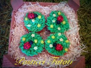 Cupcakes della fortuna alla vaniglia
