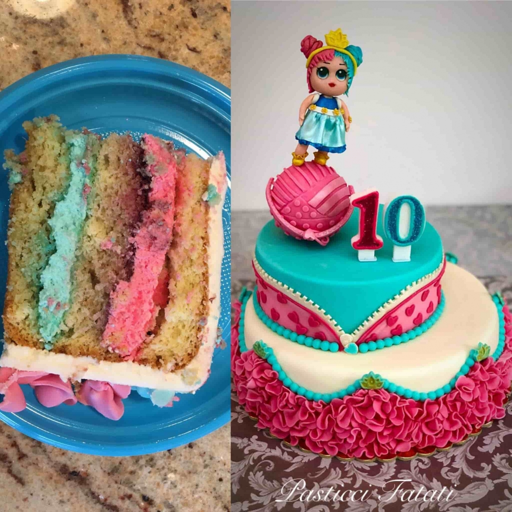 torta LOL con fetta