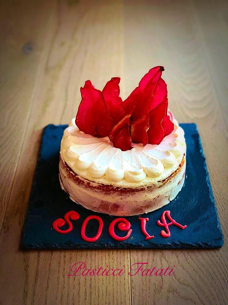 ross naked cake socia
