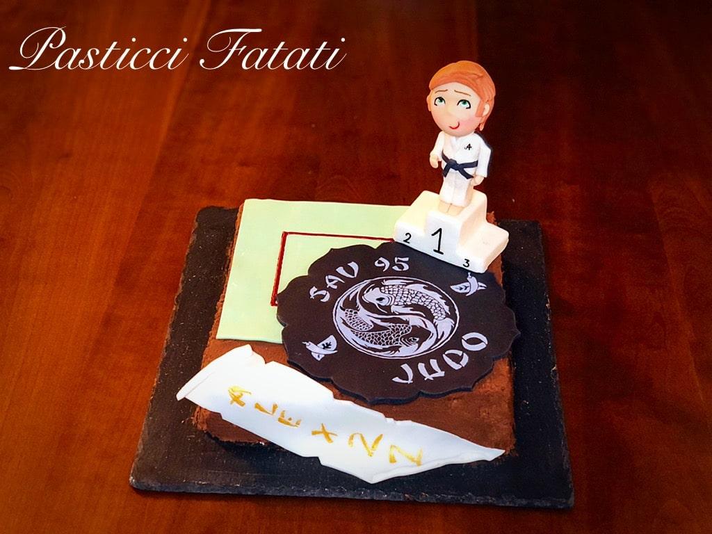torta decorata a tema judo