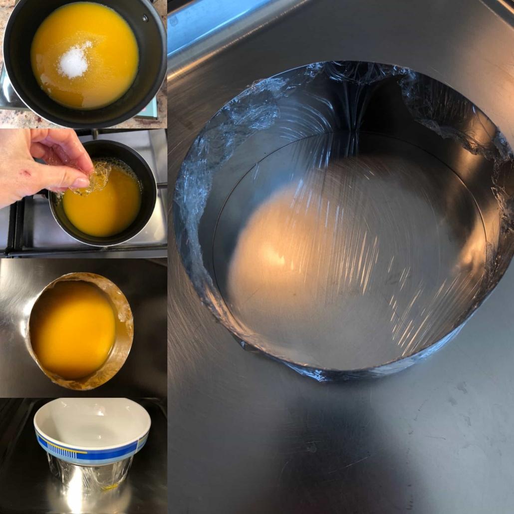 fasi per preparare la gelé