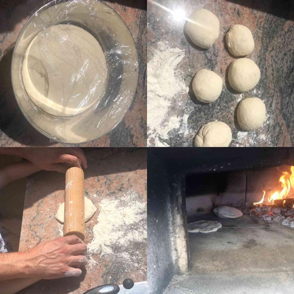cottura del pane arabo