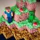Stve su torta a tema minecraft