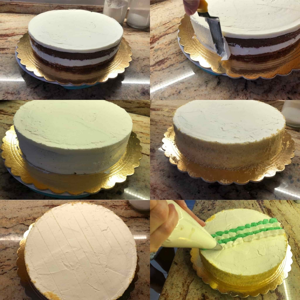 fasi per decorare la torta paradiso con camy cream