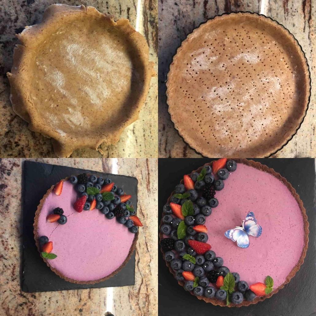 fasi per assemblare e decorare la crostata