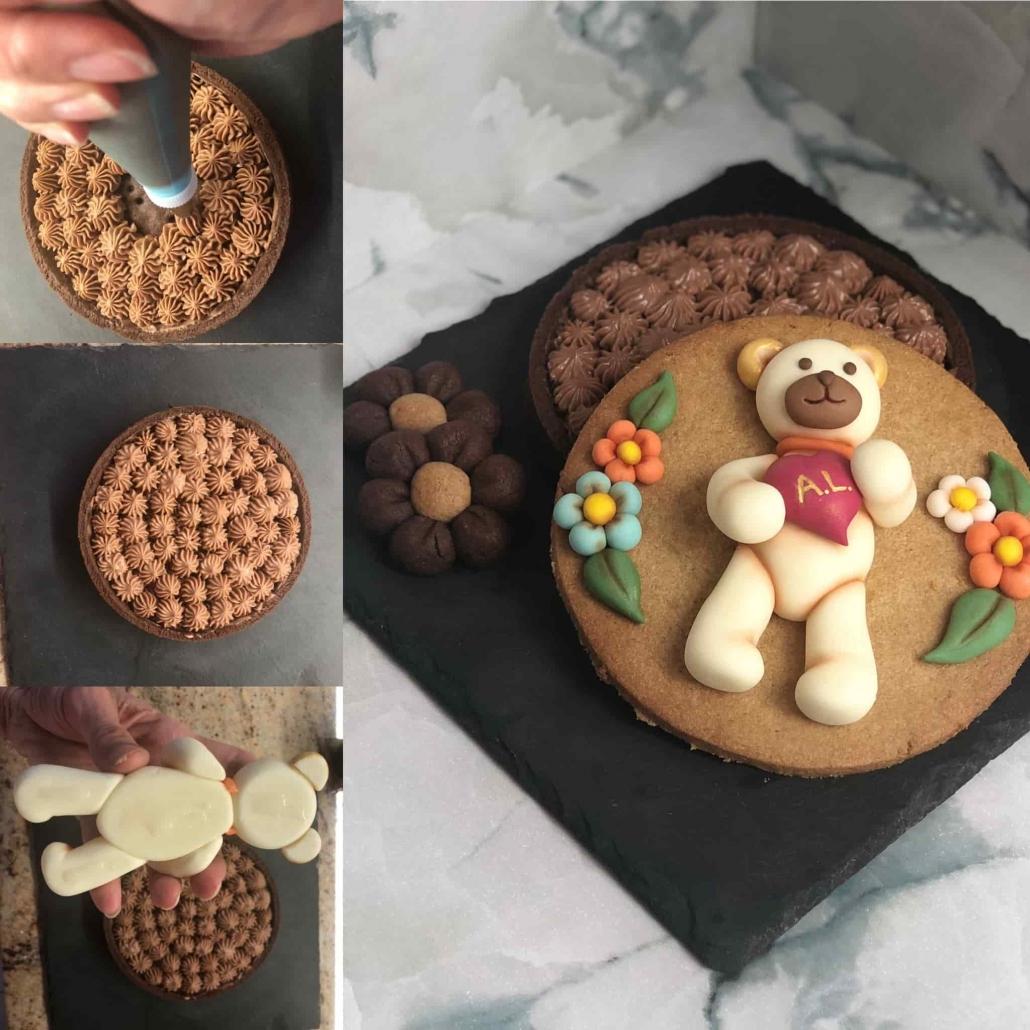 come decorare la crostata di farro al cacao