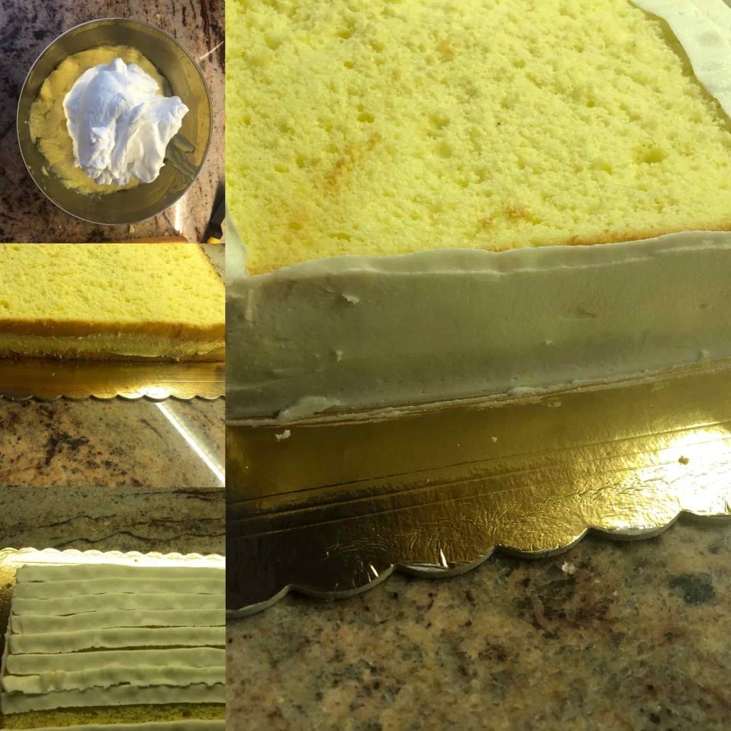 fasi per farcire la torta