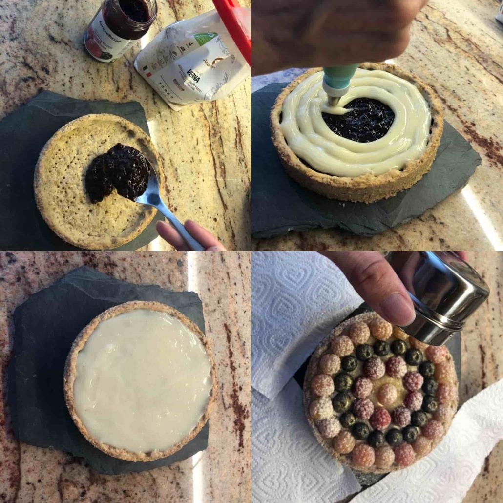farcire e decorare la torta