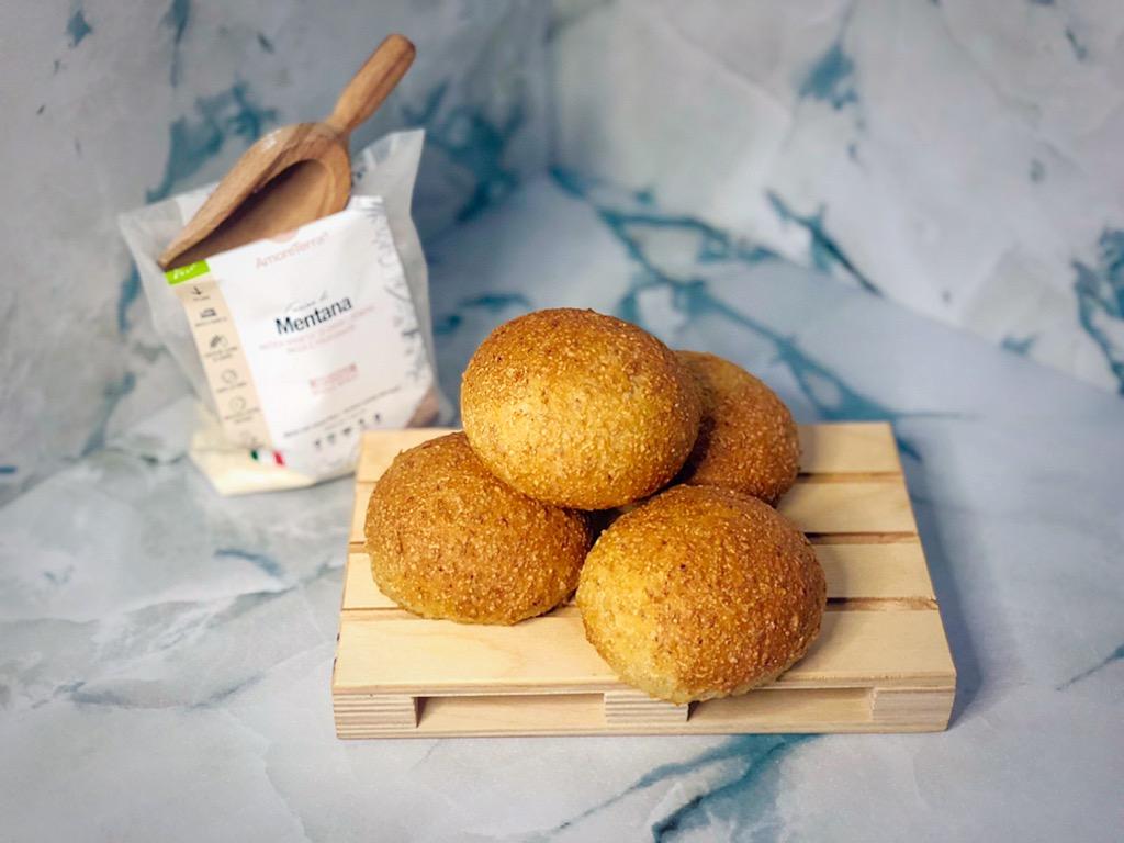 panini integrali al latte di riso su pallet