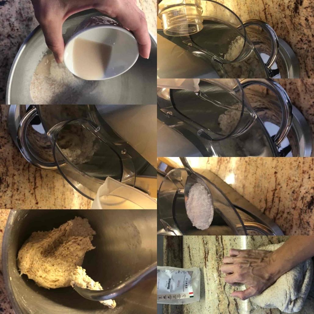 fasi per preparare i panini integrali