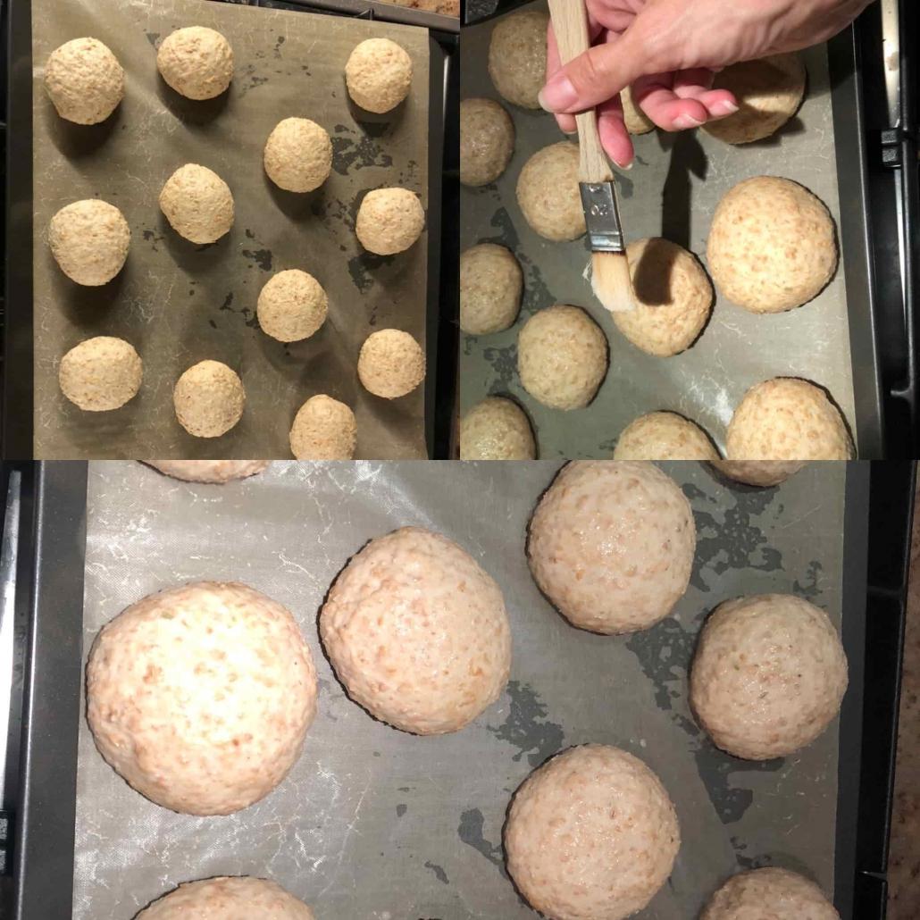 seconda lieviatazione e cottura dei panini integrali
