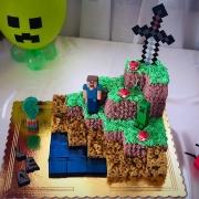 torta minecraft completa