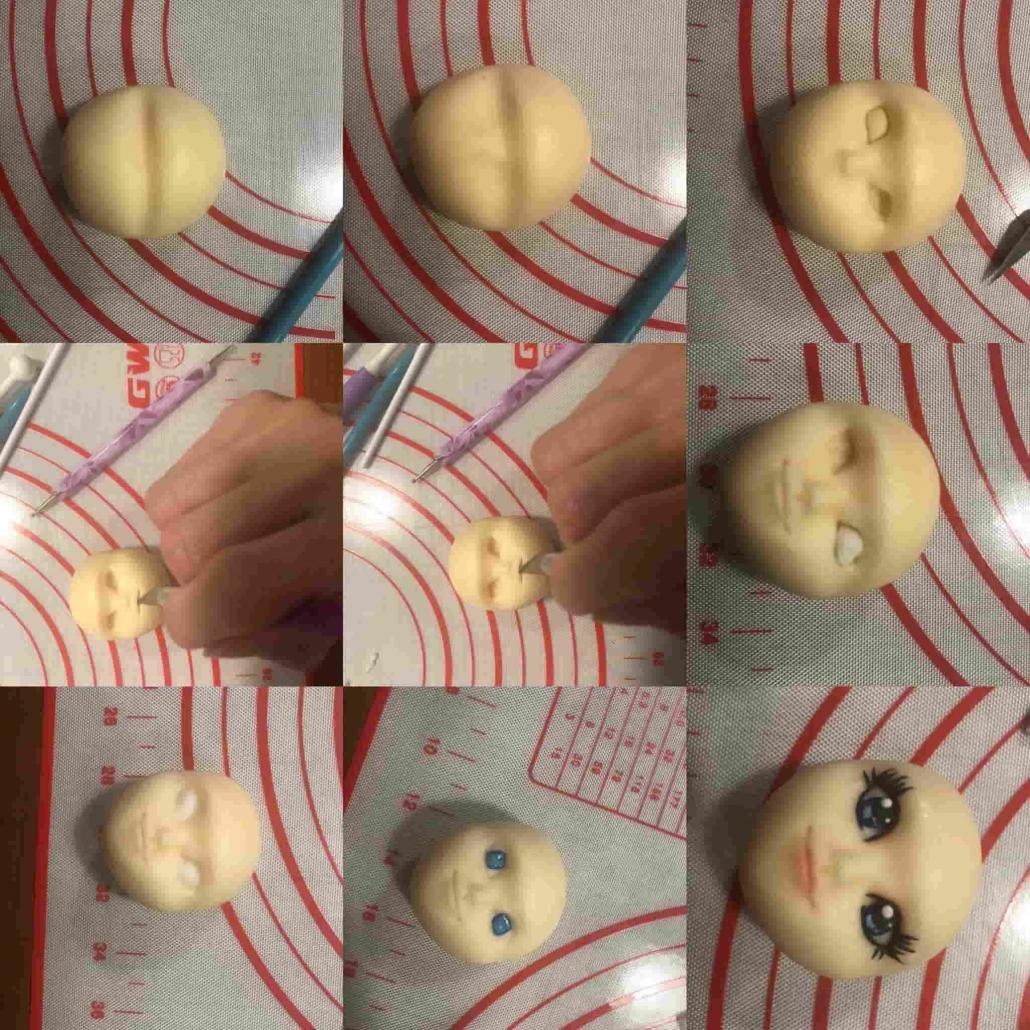fasi per la realizzazione del viso di elsa