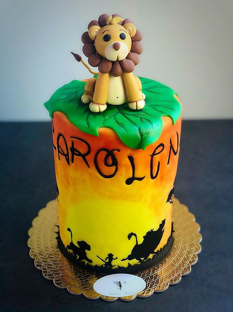 torta stile re leone con Leone