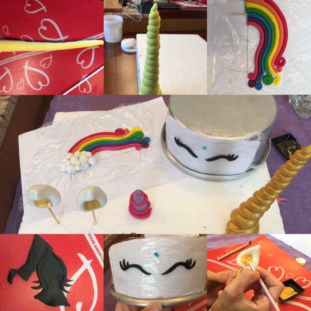 preparare le decorazioni unicorn