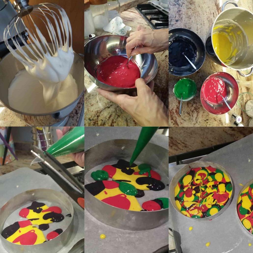 fasi per pan di spagna multicolor