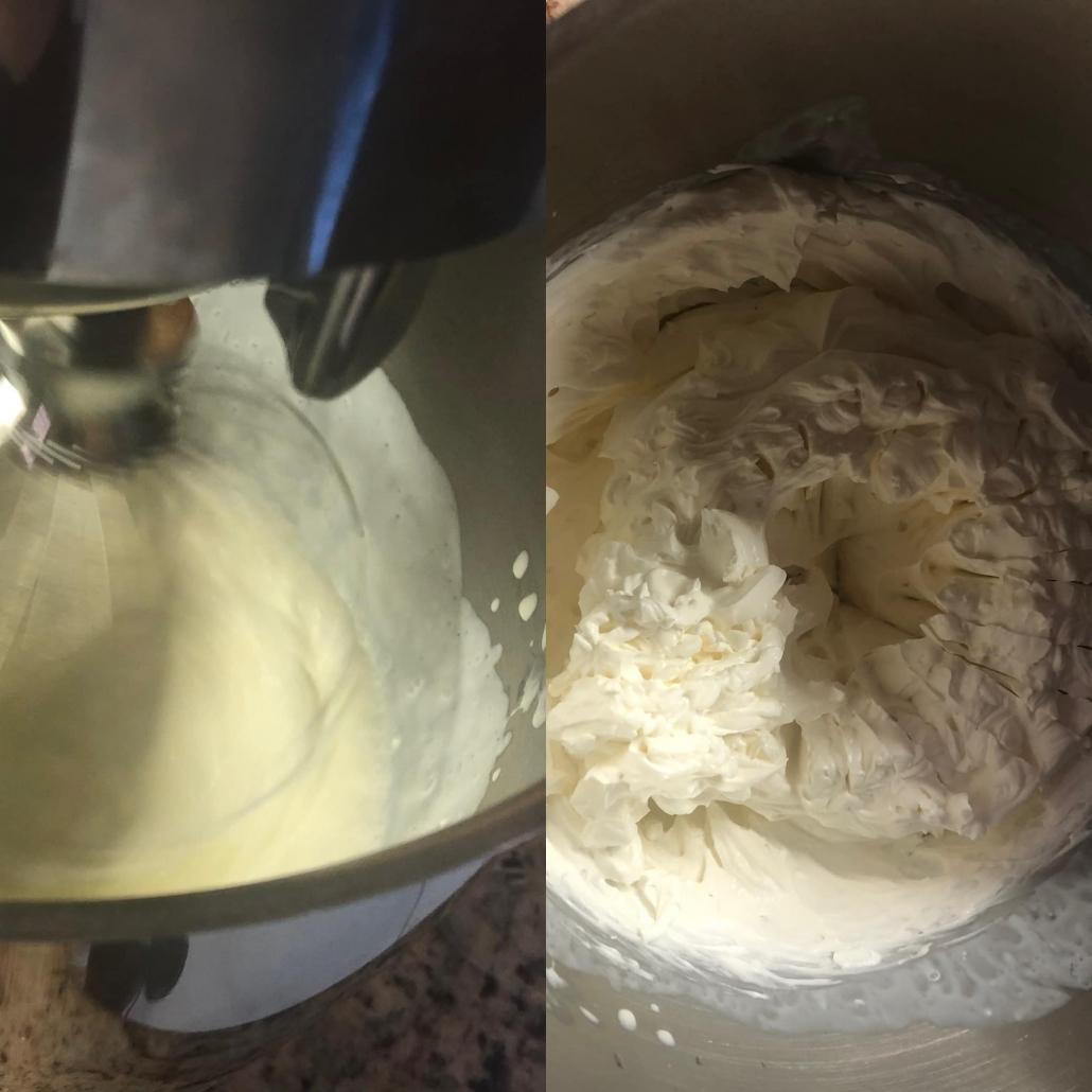 fasi per preparare la crema di ricotta
