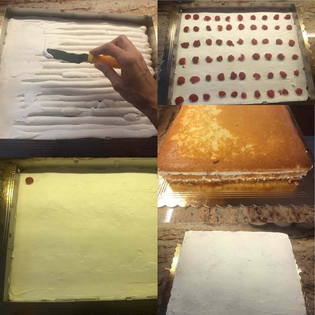 assemblare la make up cake