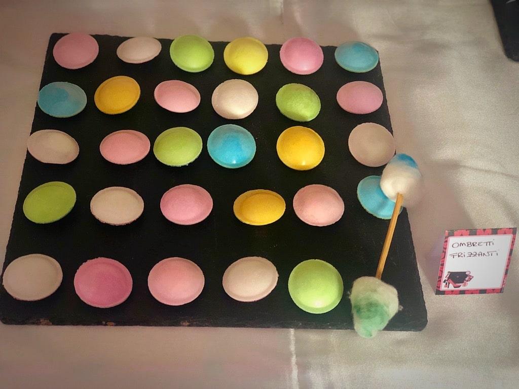 pallet di ombretti di caramelle frizzanti