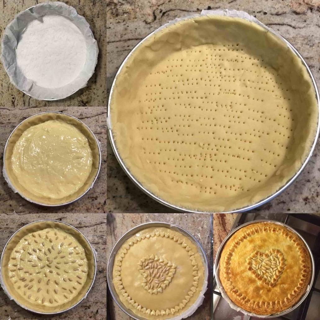 fasi per assemblare la torta della nonna bimby