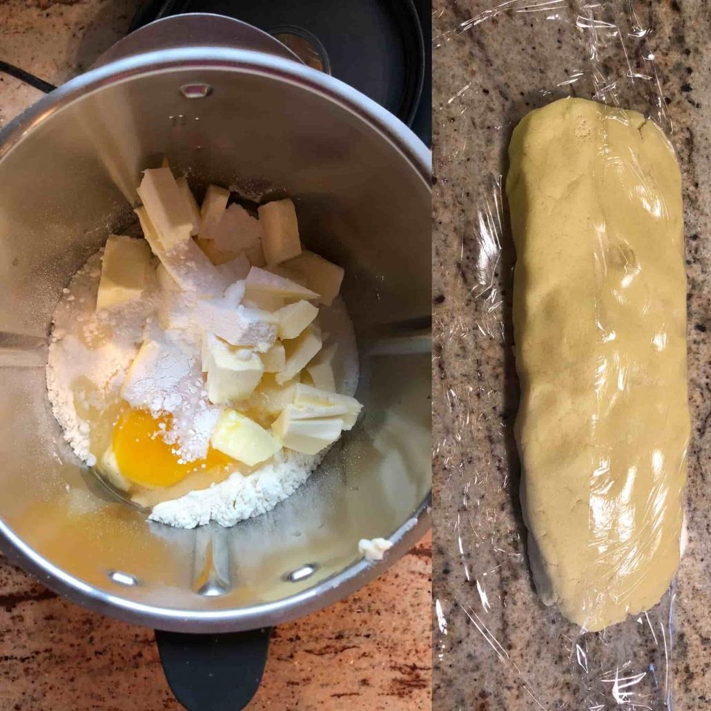 fasi per preparare il guscio della torta della nonna