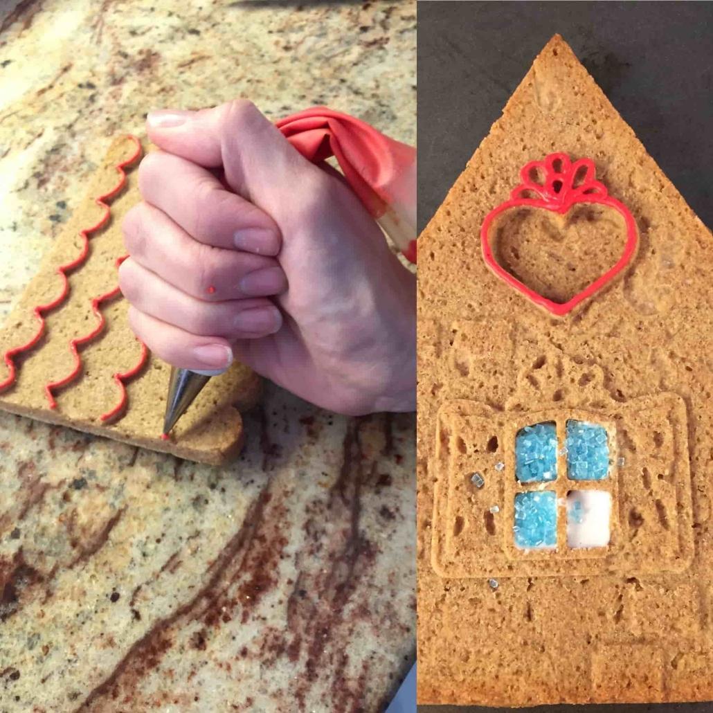 decorare gli elementi in pan di zenzero