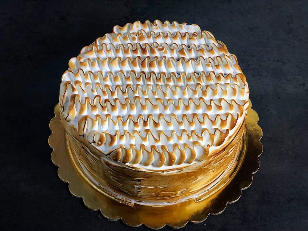 torta meringata al caffè senza biscotto