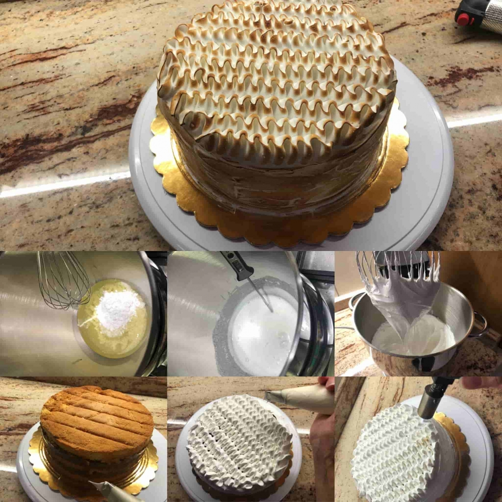 decorare la torta meringata