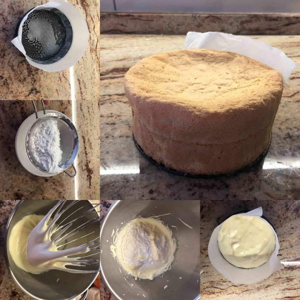 fasi per preparare il pan di spagna gluten free per il profumo d'autunno