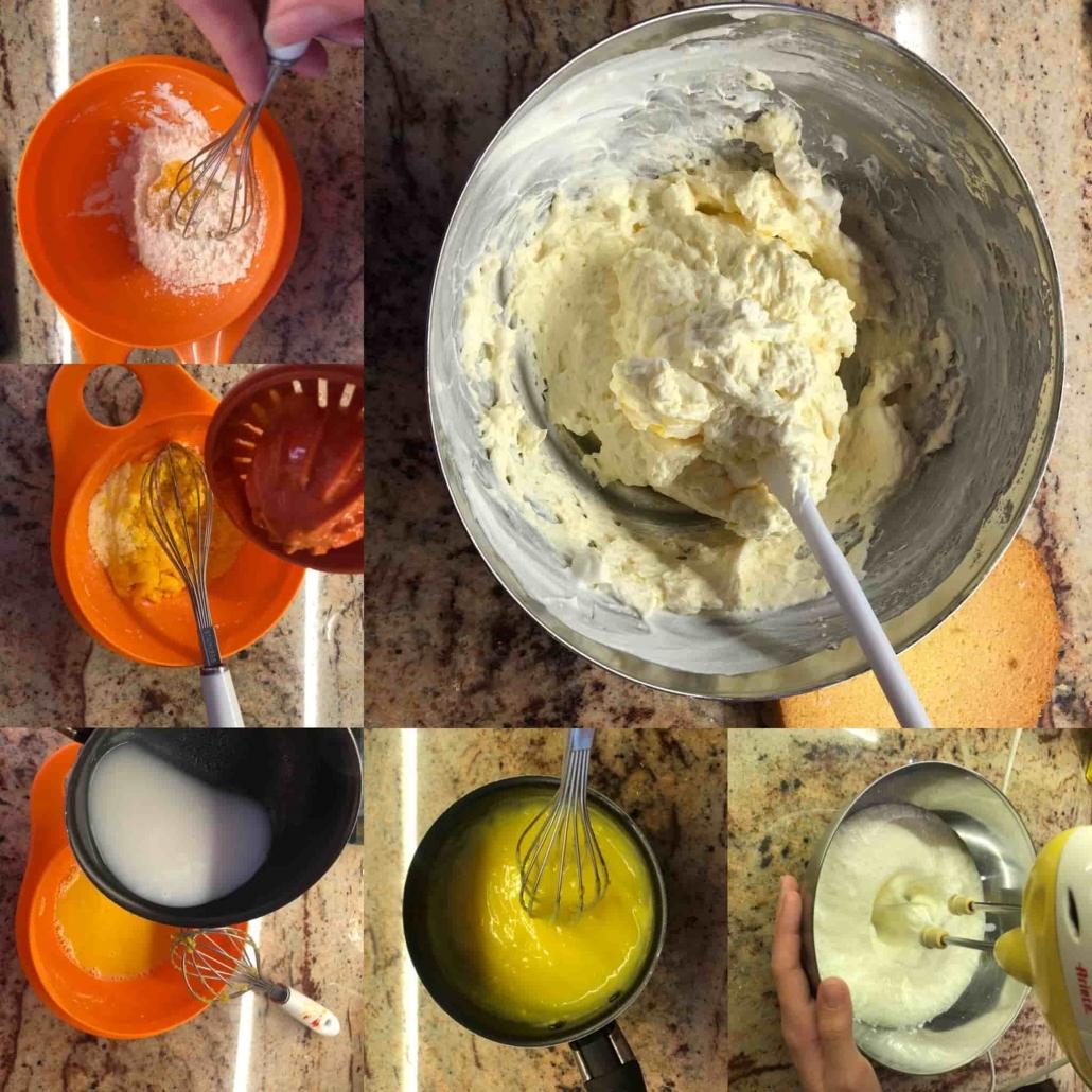 fasi per preparare la crema alle clementine, frutto tipico dell'autunno