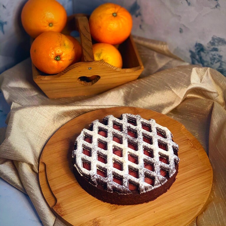 crostata arancia e cacao