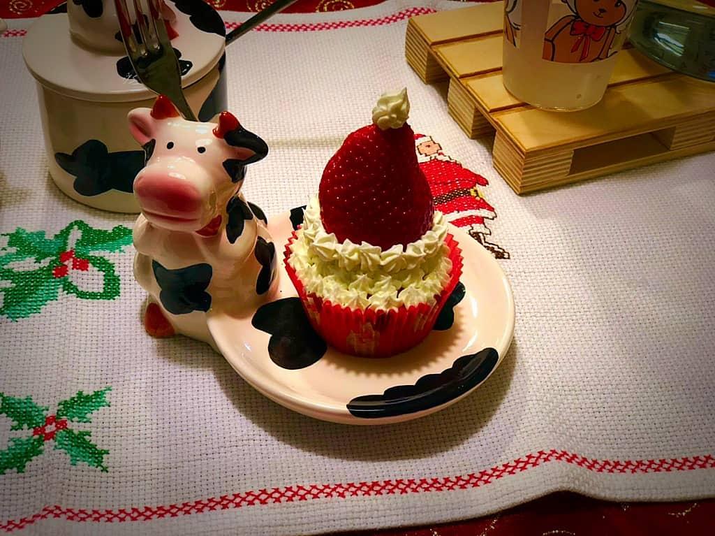 cupcake cappello di babbo natale