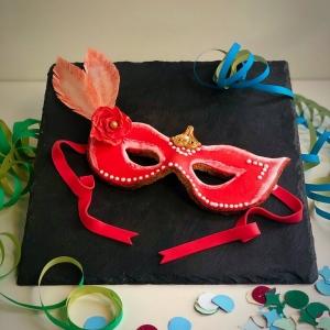 biscotto maschera di carnevale