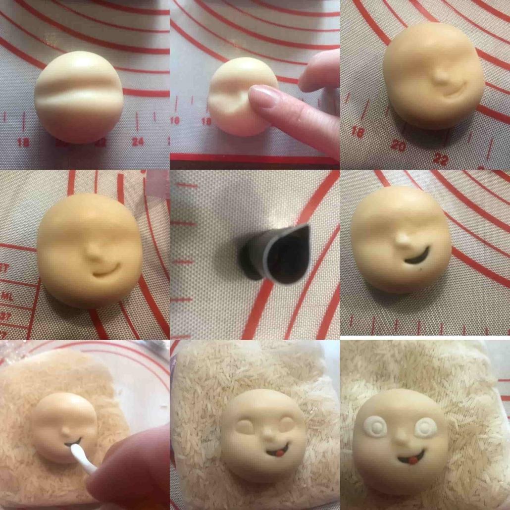 fasi per preparare il viso di Jack Jack
