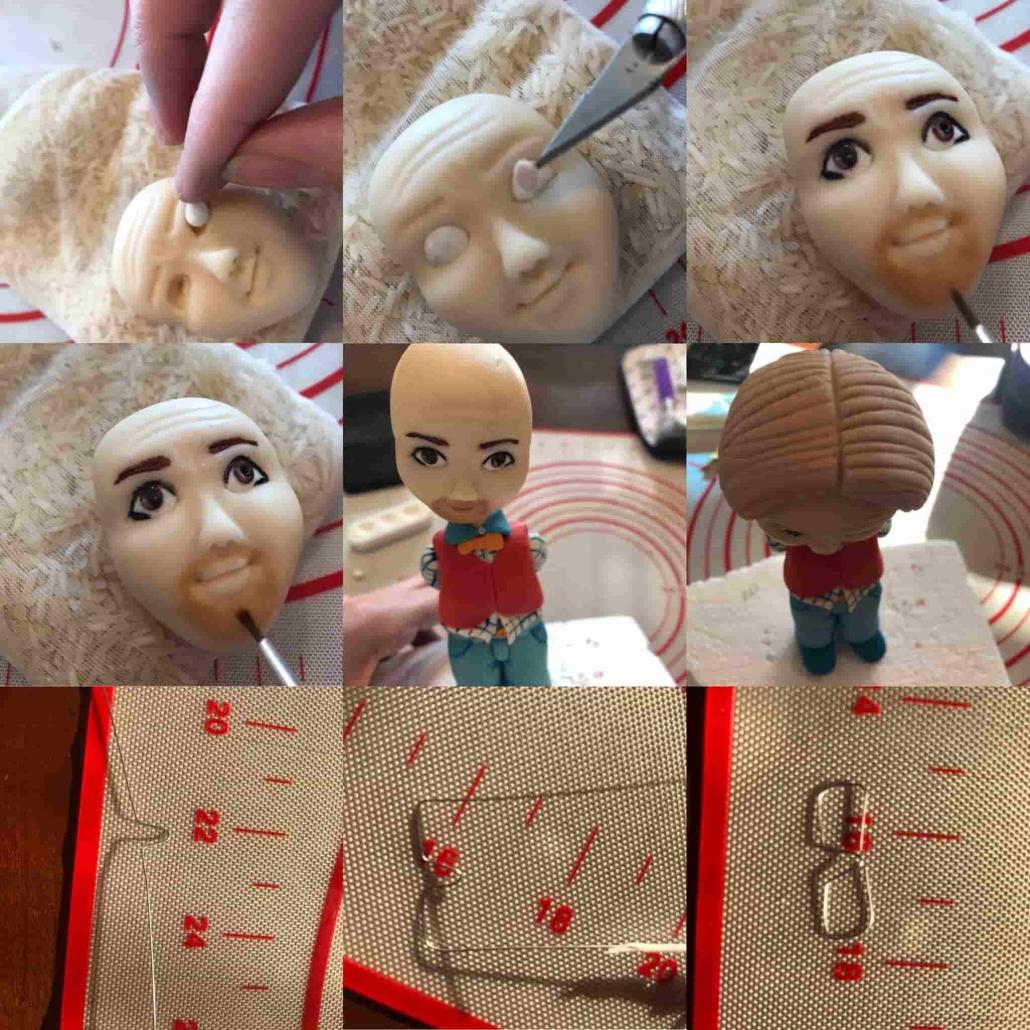 fasi per ultimare il viso e fare i capelli