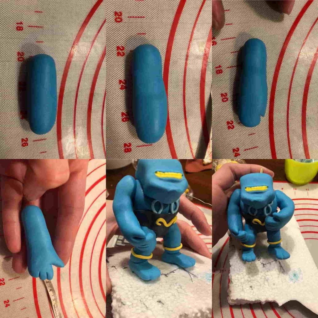fasi per preparare le braccia dei gormiti