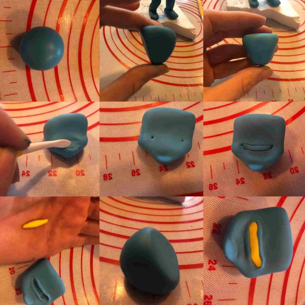 Step per preparare la testa del gormito