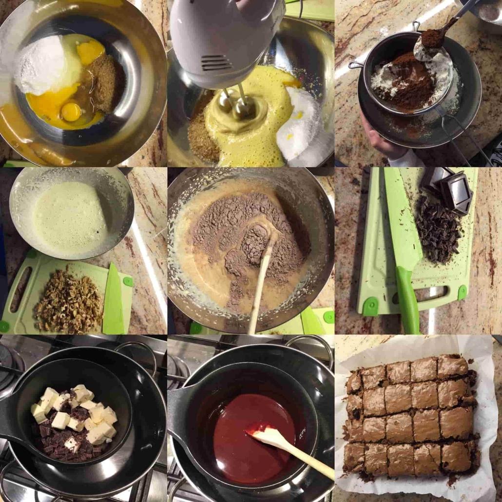 fasi per preparare i brownies