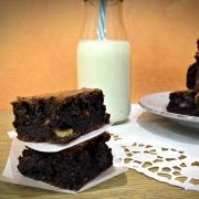 Brownies alle noci e cioccolato fondente