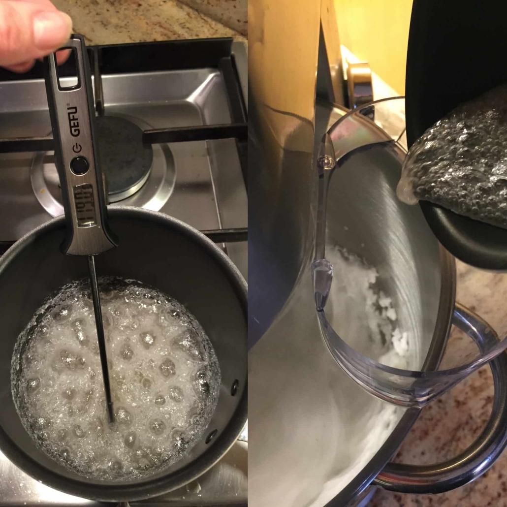 preparare la meringa per la crostata di carote