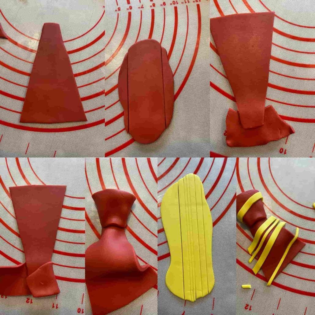 fasi preparazione cravatta