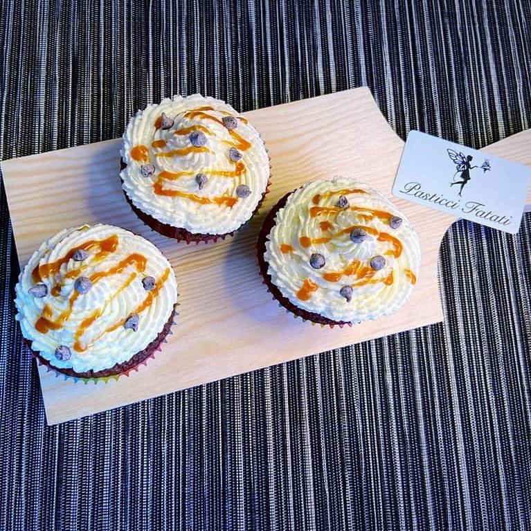 cupcakes senza glutine cioccolato e caramello