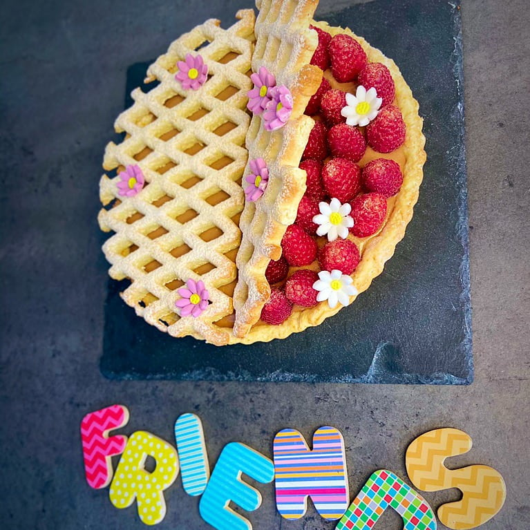 friends cake, utilizzo della frolla alla ricotta