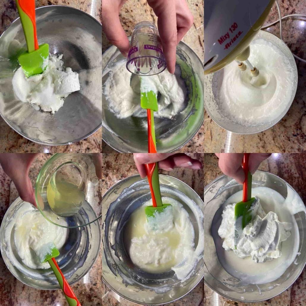step by step per preparare la crema di ricotta