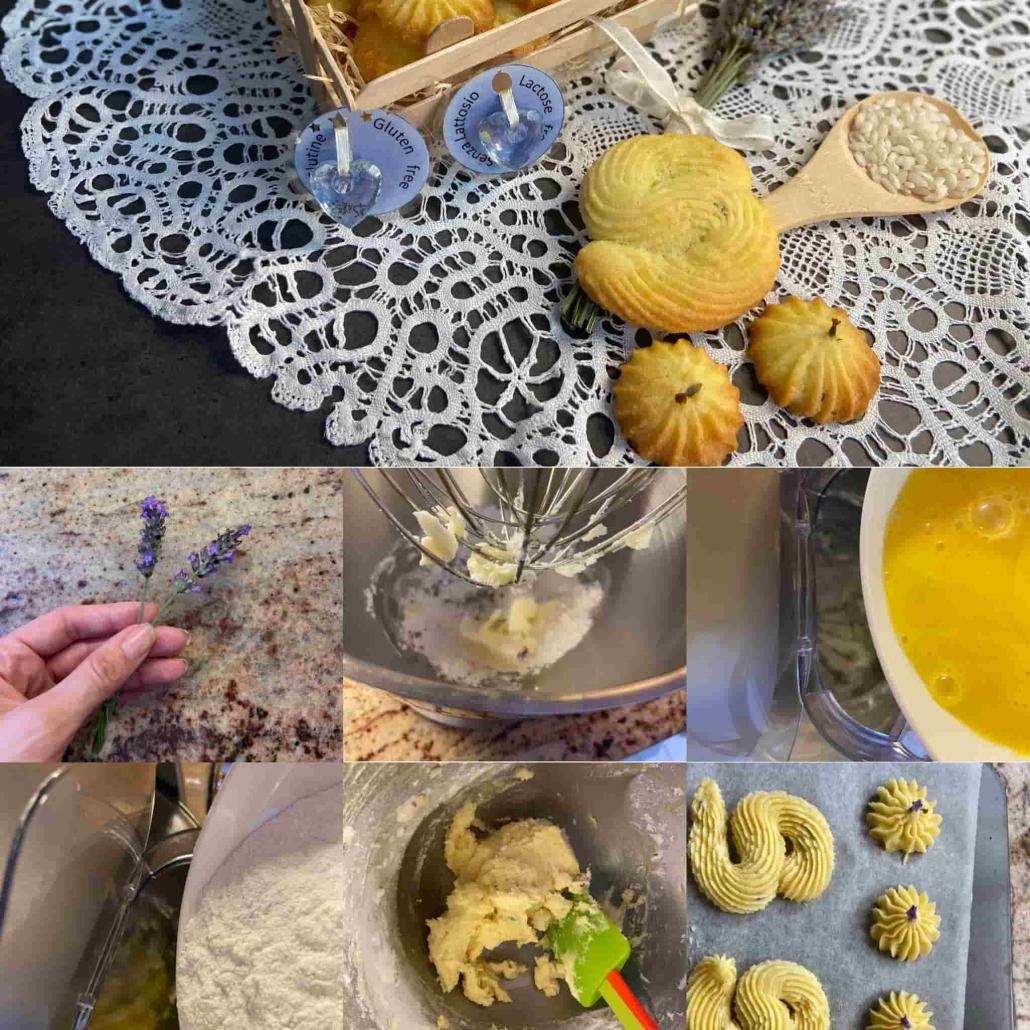 fasi per preparare i biscottini alla lavanda - Lavender biscuits' steps